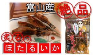【絶品!酒の肴】富山産 ほたるいかの素干し(ワタ入り)の美味しさを語る 炙り動画あり