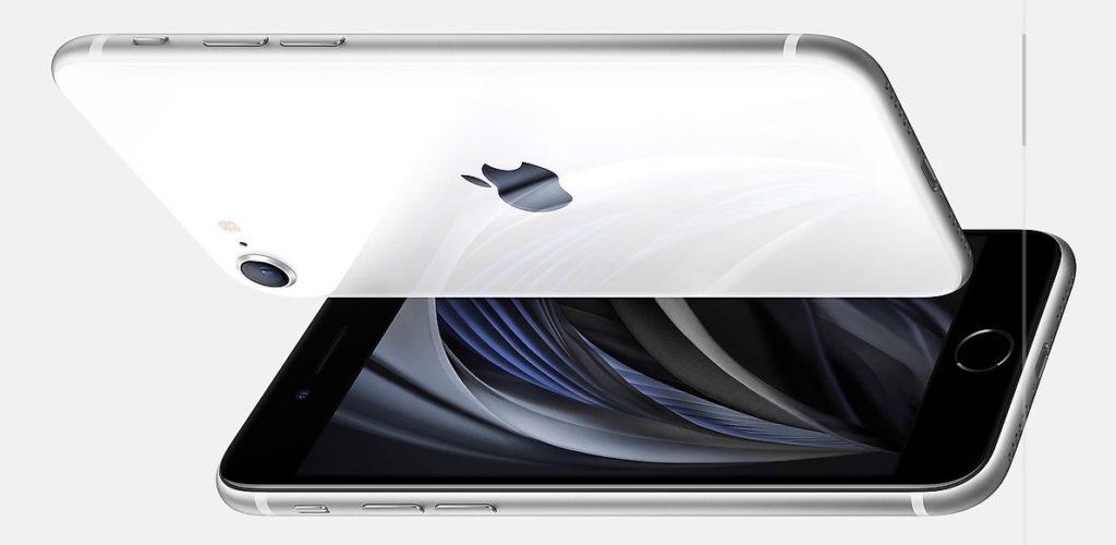 iPhone SE(第2世代)ホワイトの ベゼルは「黒」